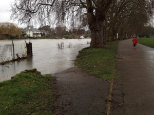 The Thames in flood