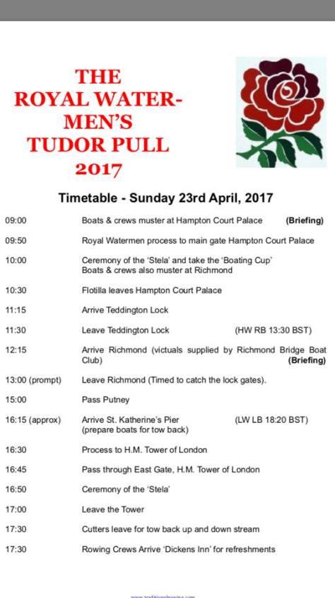 Tudor Pull Itinerary